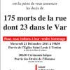 Mourir dans la rue en France!