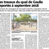 Le quai de Gaulle à Bandol ( Les travaux…)