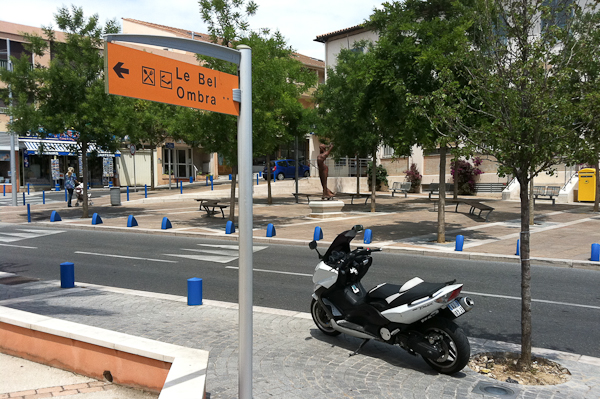 Poste scooter